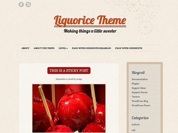 Theme WordPress Liquorice
