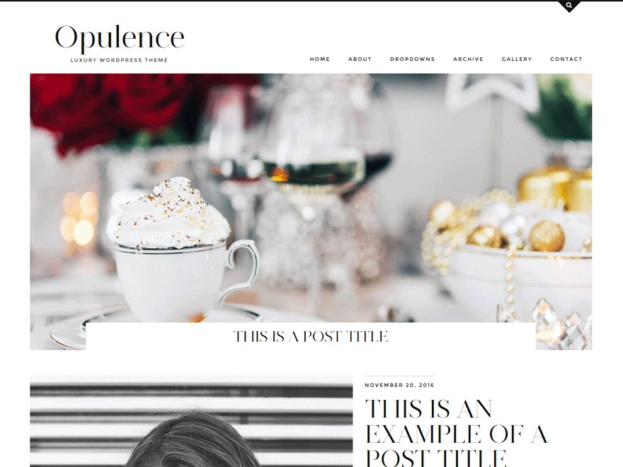 Theme WordPress Opulence (pipdig)