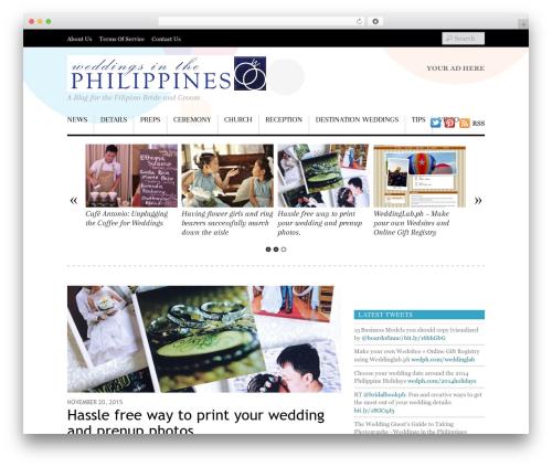 Theme WordPress Responz - weddingsinthephilippines.com