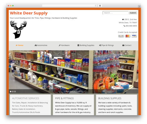 Theme WordPress SmartShop - whitedeersupply.com