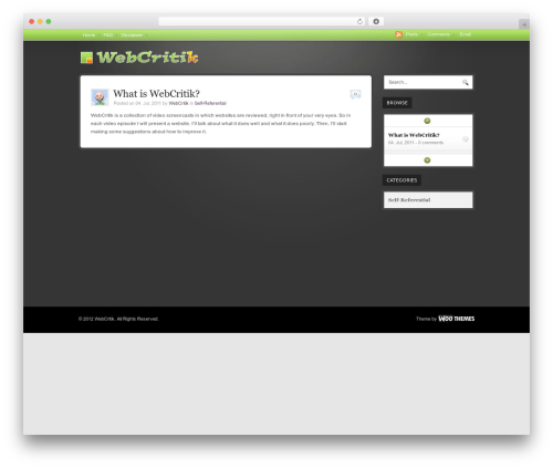 Theme WordPress WooTube - webcritik.com