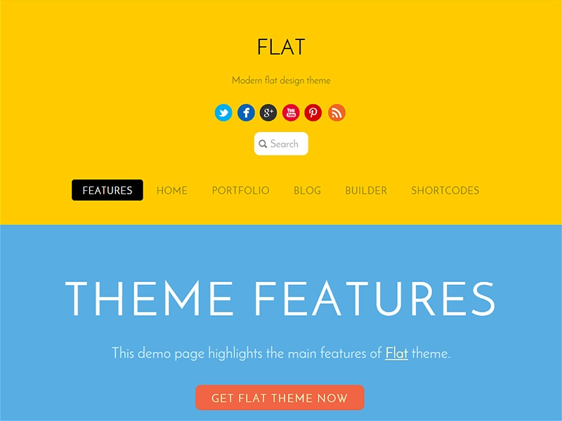 Themify Flat top WordPress theme
