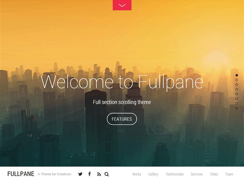 Themify Fullpane WordPress website template