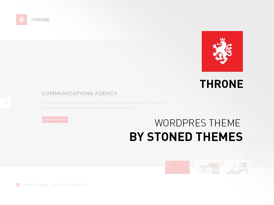 Throne personal blog WordPress theme