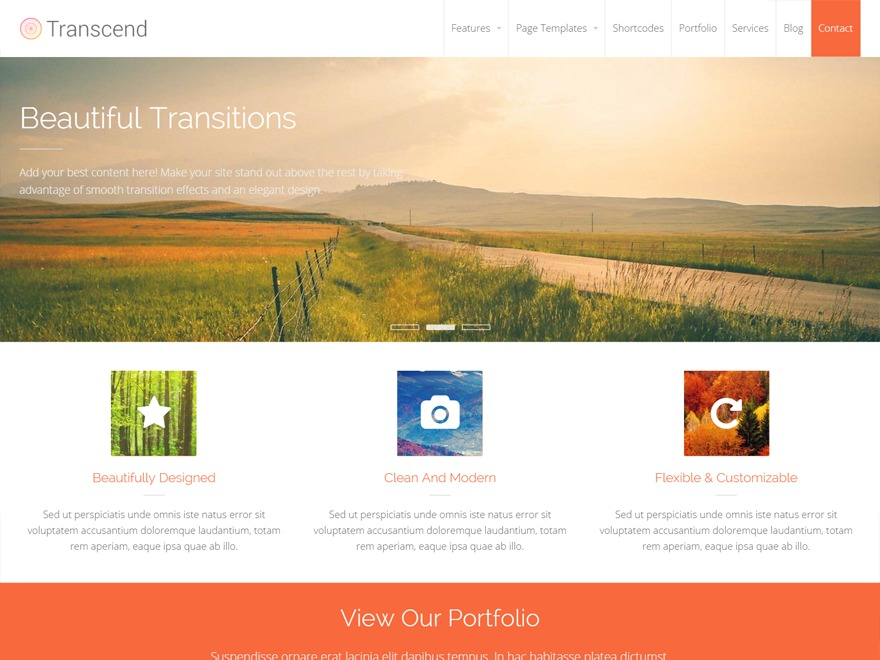 Transcend company WordPress theme