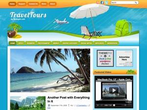 TravelTours WordPress blog template