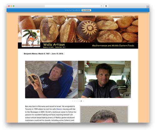 Twenty Eleven Child food WordPress theme - wallafoods.com