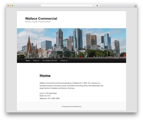 Twenty Eleven premium WordPress theme - wallacecommercial.com.au