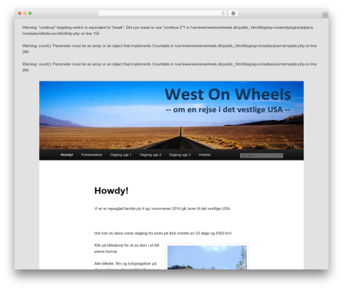 Twenty Eleven template WordPress free - westonwheels.dk
