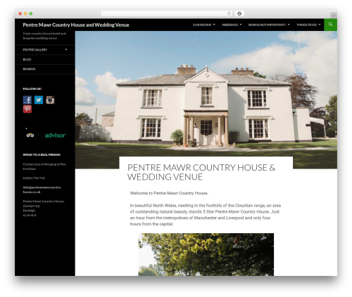 Twenty Fourteen best free WordPress theme - weddingvenueswales.co.uk
