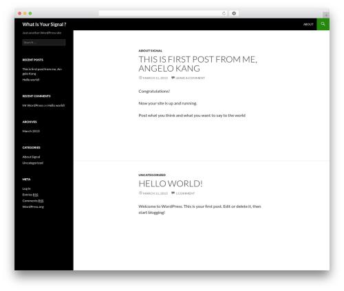 Twenty Fourteen free WordPress theme - whatsyoursignal.org