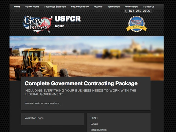 USFCR GovKinex WordPress theme