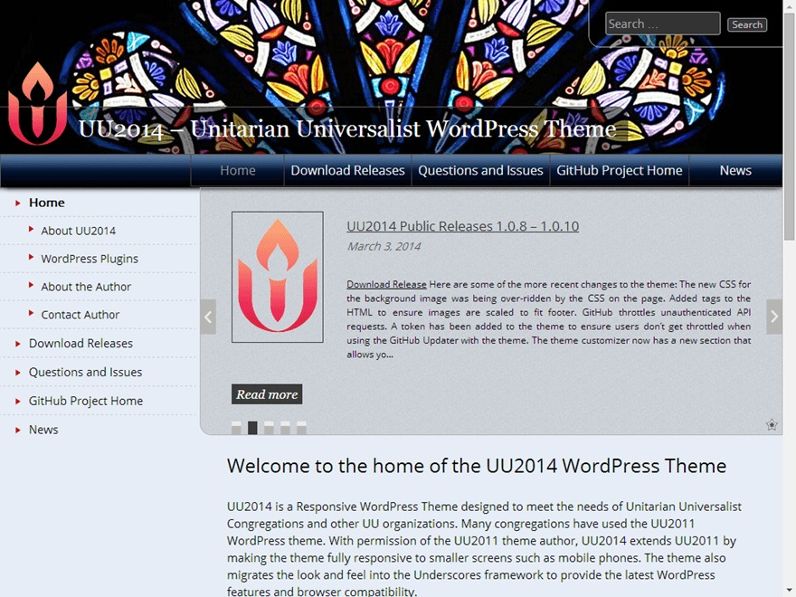 UU 2014 WordPress theme design