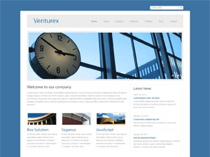 Venturex WordPress portfolio template