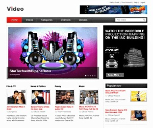 Video WordPress movie theme