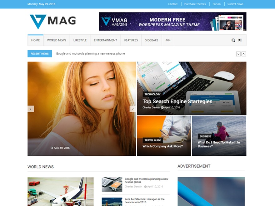 VMag newspaper WordPress theme