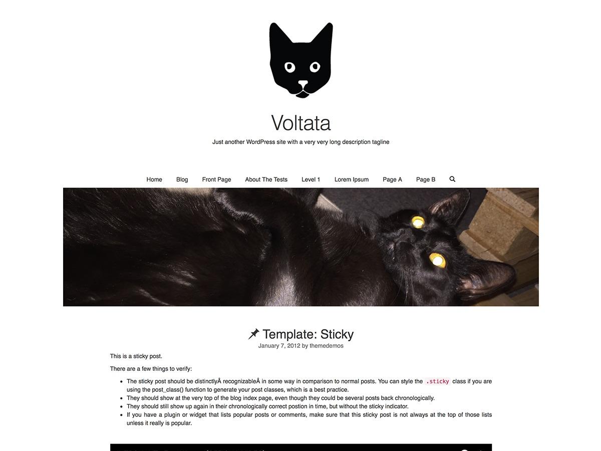 Voltata WordPress template free