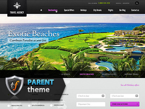 Voyage Parent WordPress theme design
