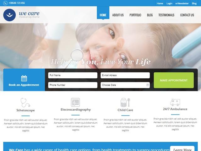 Wecare best WordPress theme