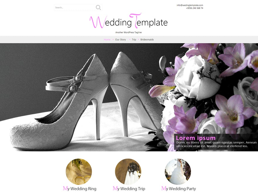Wedding Style WordPress photo theme