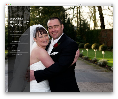 Weddings by Mark WordPress gallery theme - weddingsbymark.co.uk