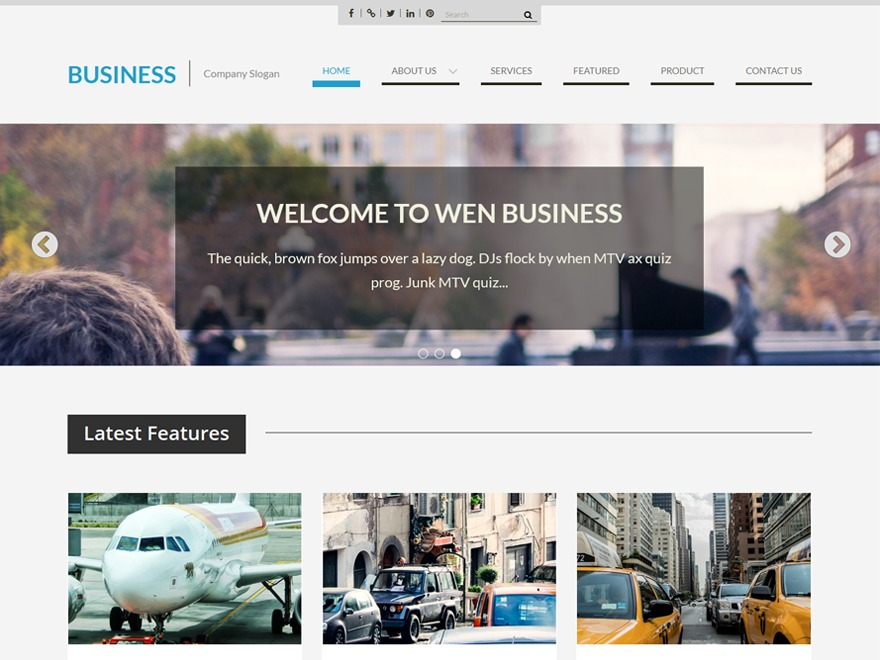 WEN Business template WordPress free