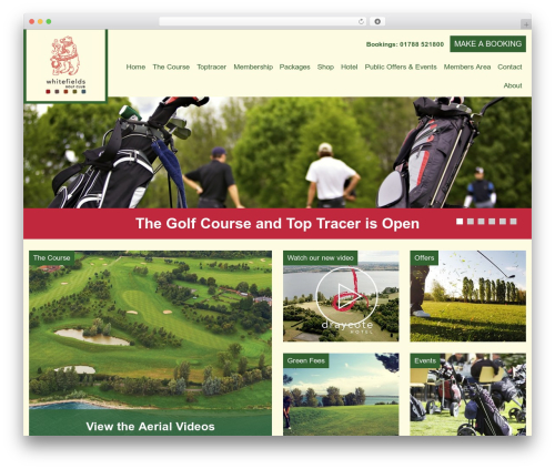Whitefields top WordPress theme - whitefieldsgolfclub.co.uk