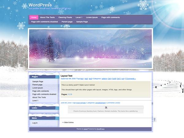 Winter WordPress theme
