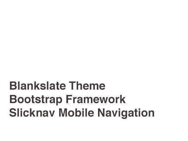 WordPress template Blank Bootstrap