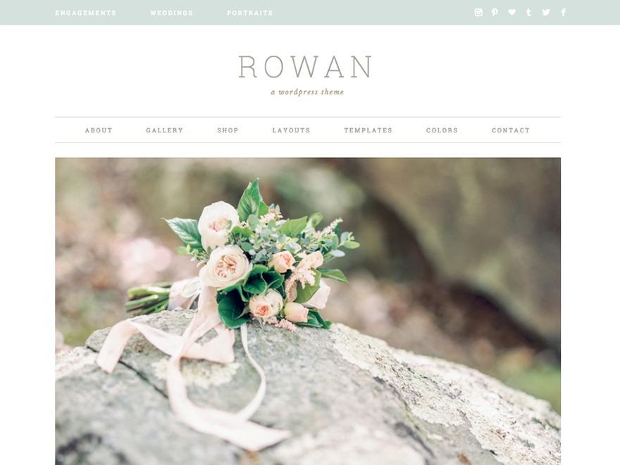 WordPress template Rowan