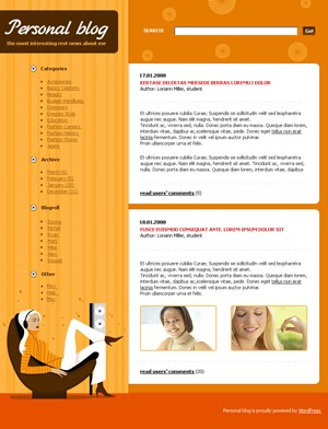 WordPress theme 438 WP theme