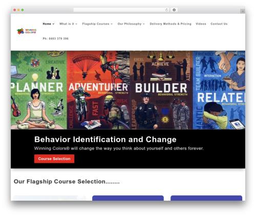 WordPress theme Divi - winningcolors.com.au