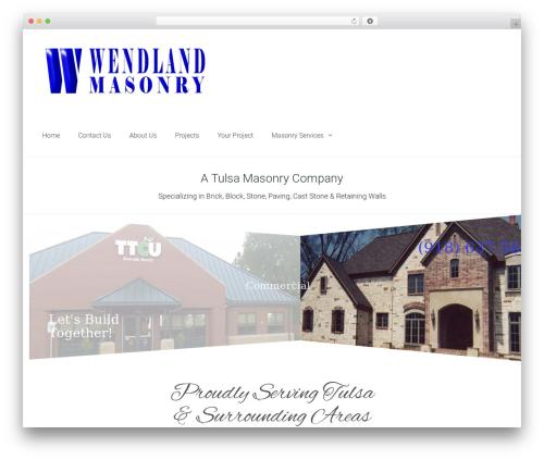 WordPress theme DynamiX - wendlandmasonry.com
