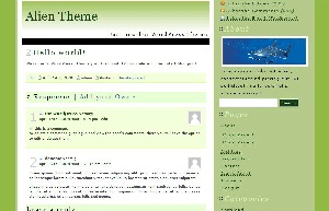 WordPress theme Fadonet Alien