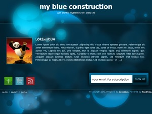 WordPress theme my blue construction