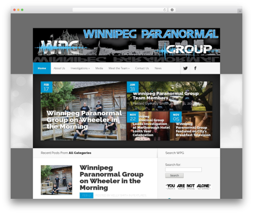 WordPress theme Nexus - winnipegparanormal.com