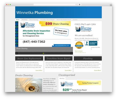 WordPress theme Organic-NonProfit - winnetka-plumbing.com