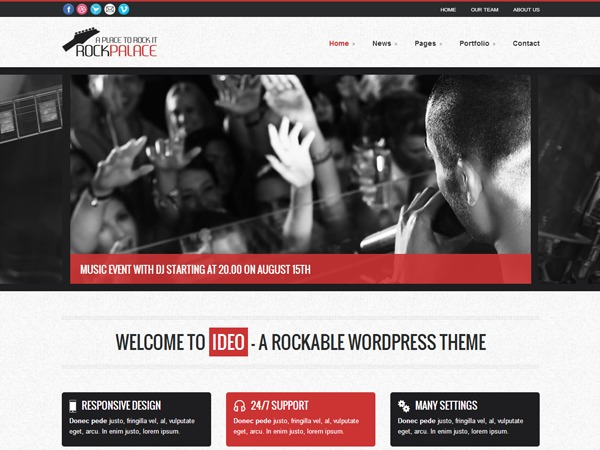WordPress theme Rock Palace