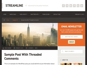 WordPress theme Streamline Child Theme