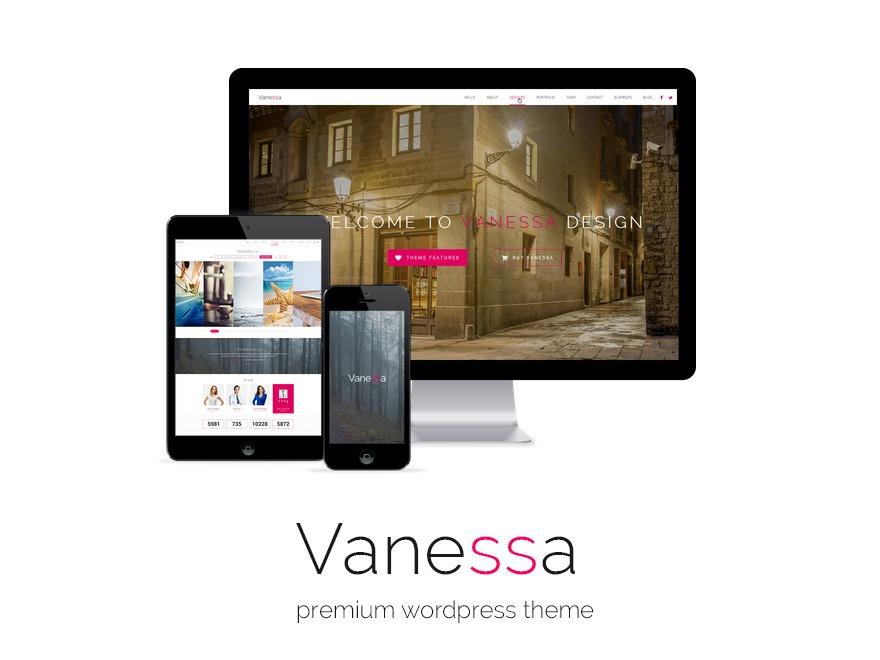 WordPress theme Vanessa