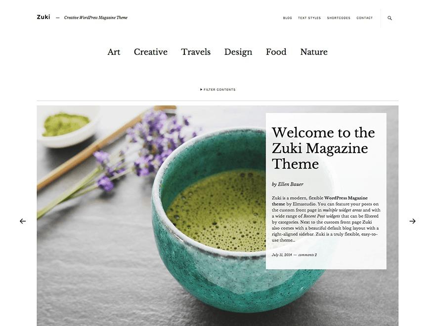 WordPress theme Zuki Child