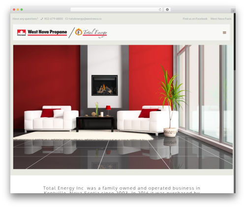 WordPress website template Betheme - totalenergyinc.ca