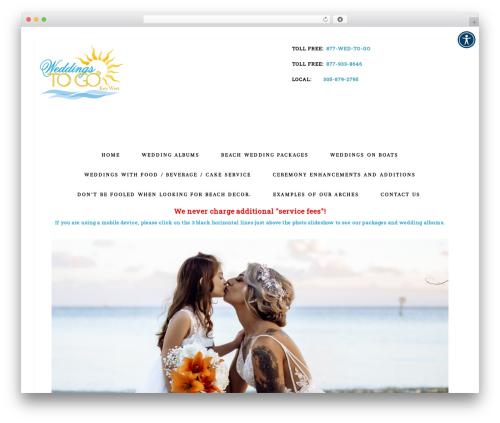 WordPress website template Bloom Theme - weddingstogokeywest.com