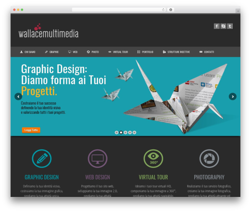 WordPress website template Clockwork WP - wallacemultimedia.net