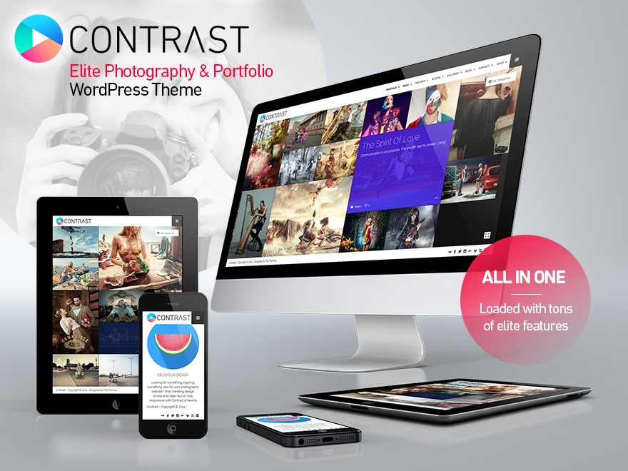 WordPress website template Contrast