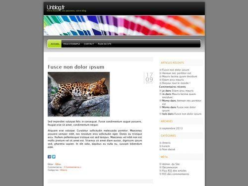 WordPress website template Freshy