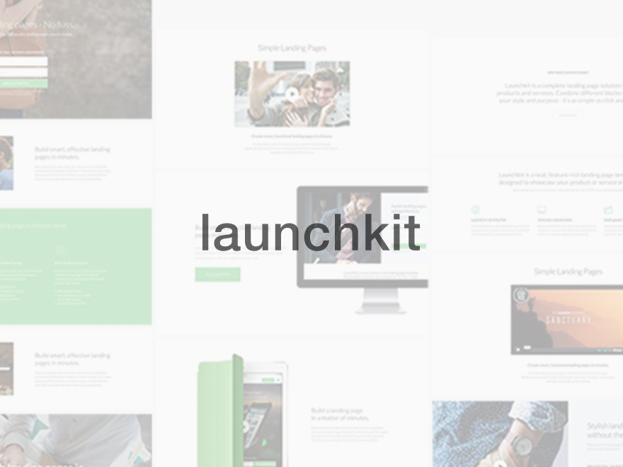 WordPress website template LaunchKit