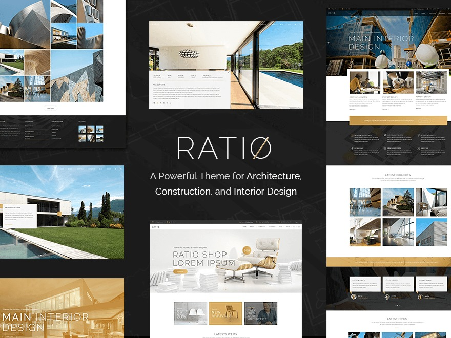 WordPress website template Ratio