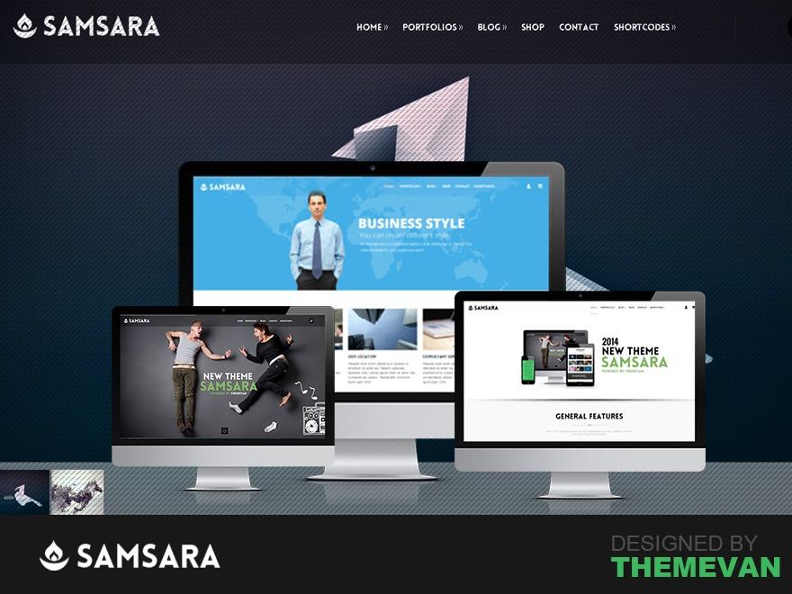 WordPress website template Samsara
