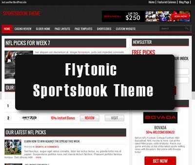 WordPress website template Sportsbook Theme